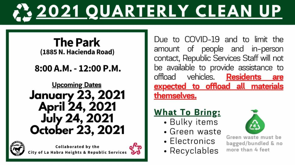 Quarterly Clean-Up 2021