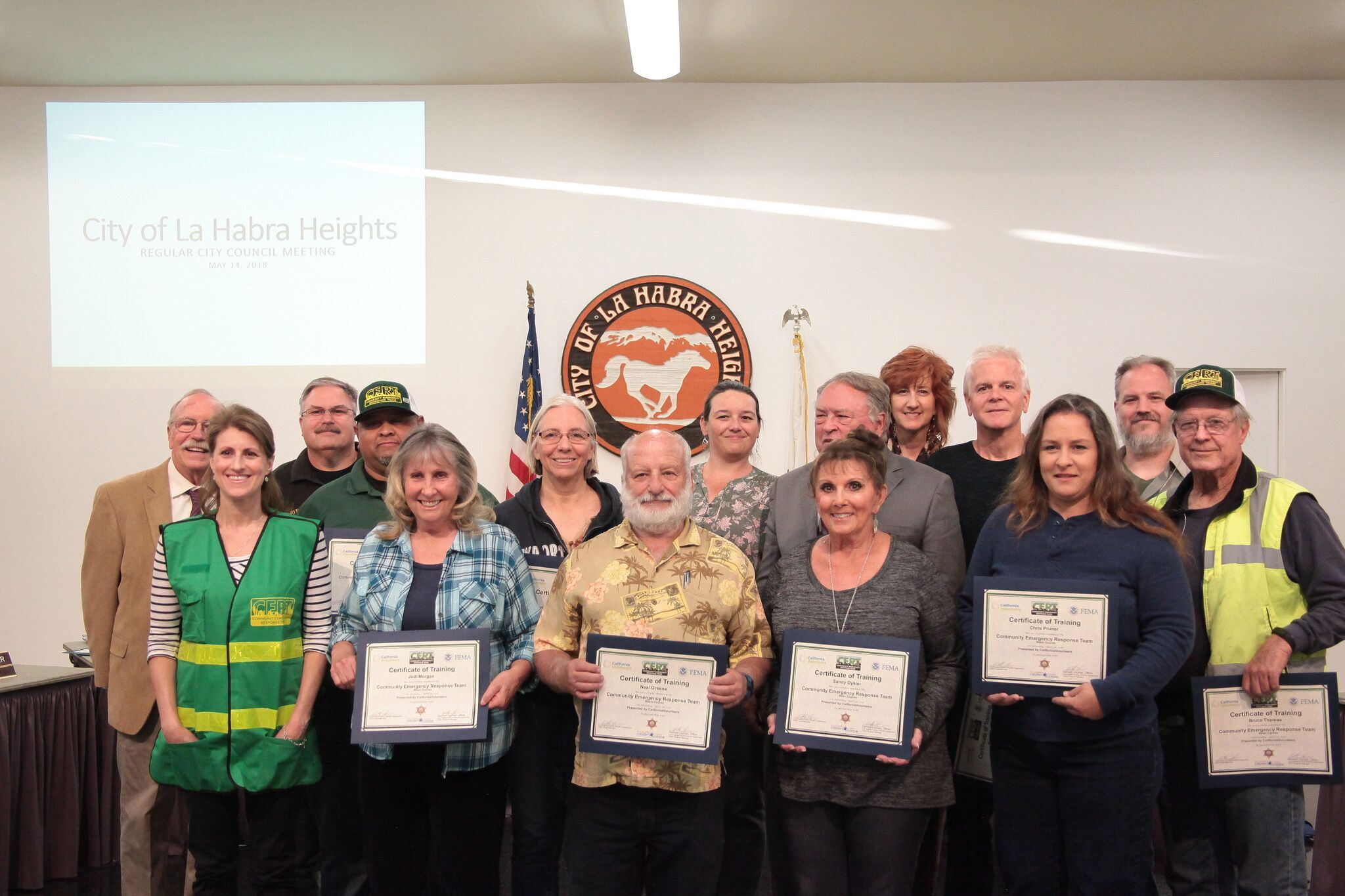 Recognition of CERT Participants