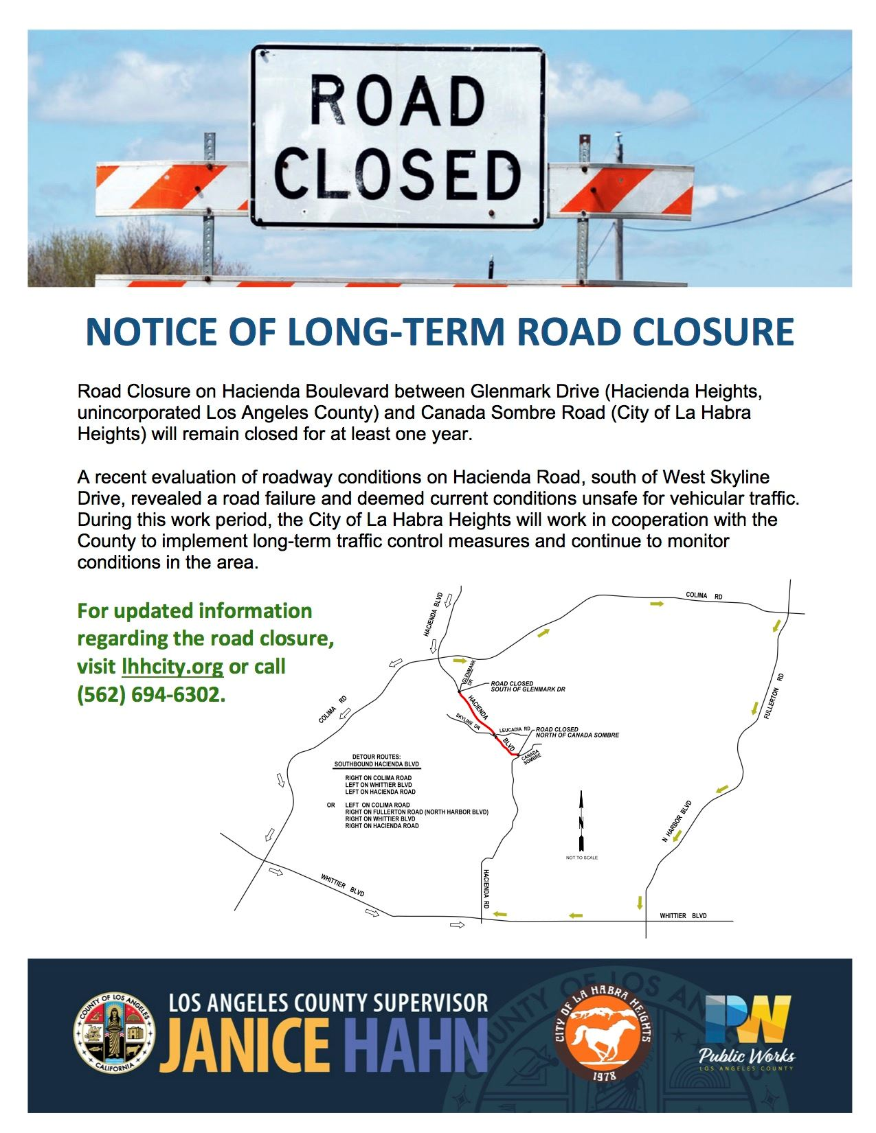 Hacienda Road Closure Flyer Update