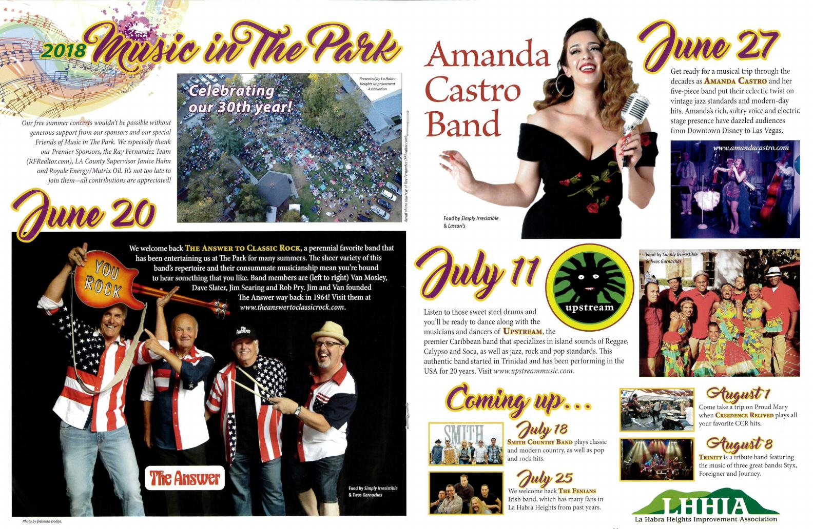 Music in The Park - Band Lineup