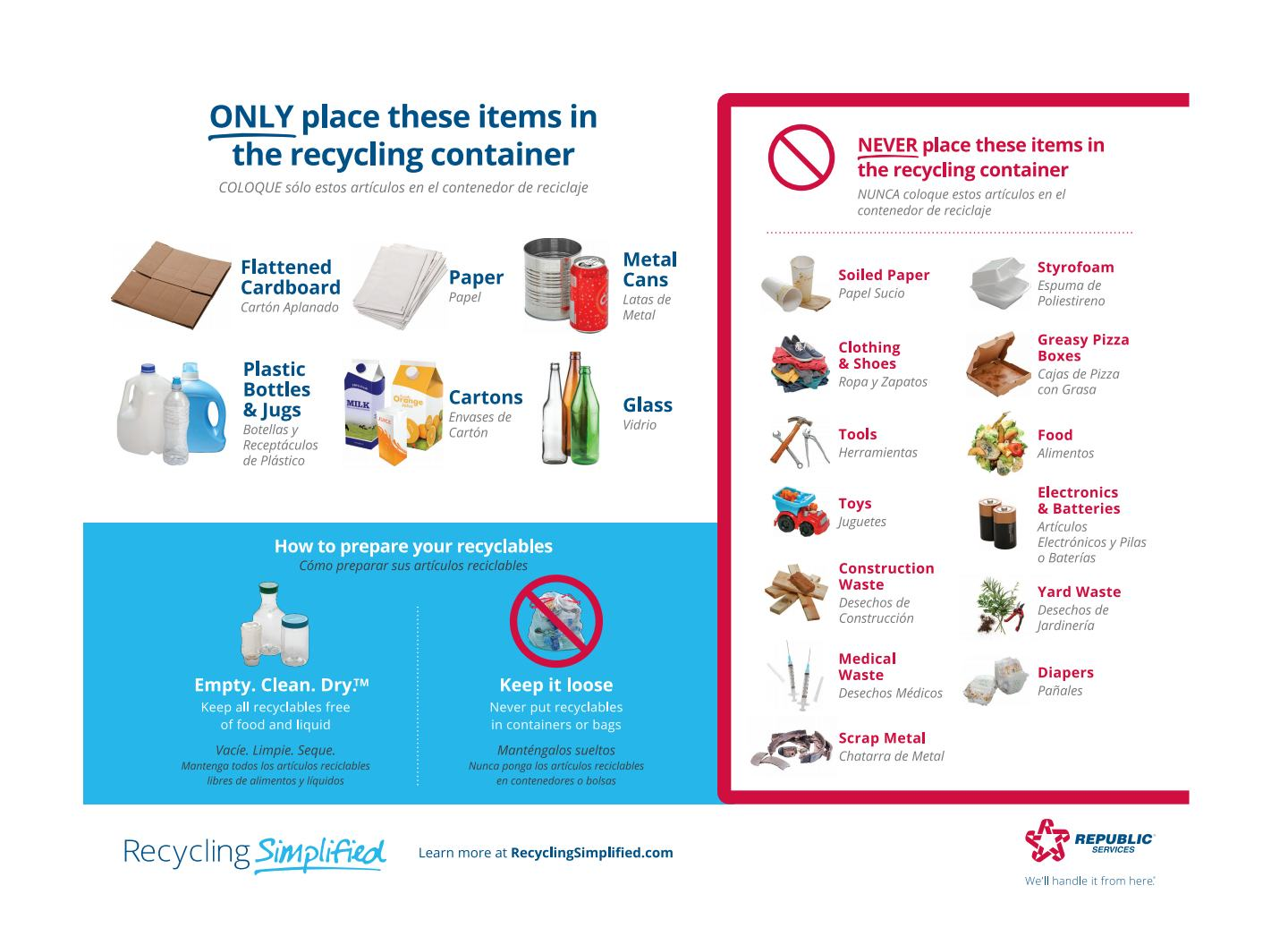 Simplified Recycling Flyer