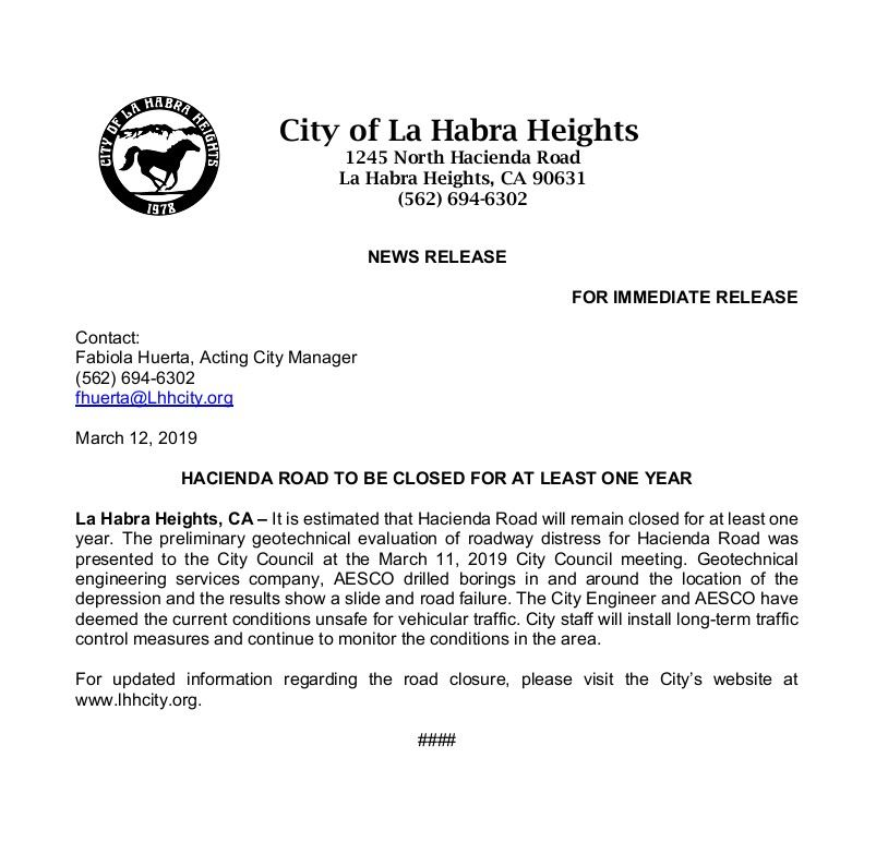 La Habra Heights, CA | Official Website